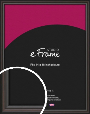 Elegant Vintage Black Picture Frame, 14x18