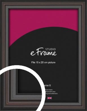 Elegant Vintage Black Picture Frame, 15x20cm (6x8