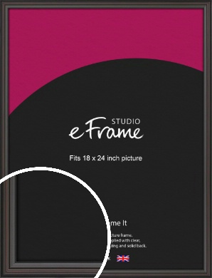 Elegant Vintage Black Picture Frame, 18x24
