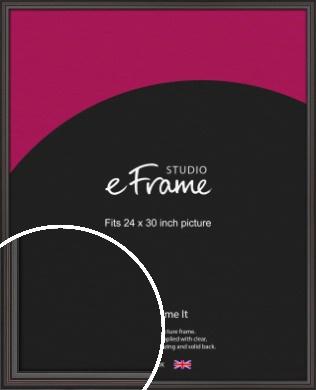 Elegant Vintage Black Picture Frame, 24x30