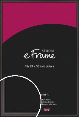 Elegant Vintage Black Picture Frame, 24x36