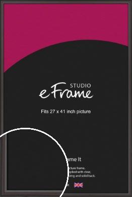 Elegant Vintage Black Picture Frame, 27x41