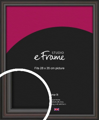Elegant Vintage Black Picture Frame, 28x35cm (VRMP-1249-28x35cm)