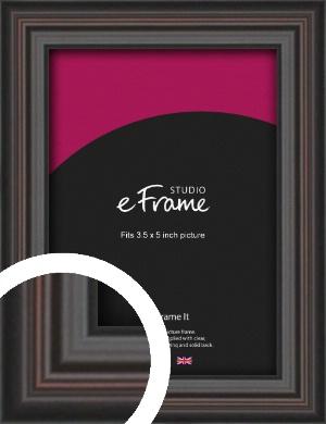 Elegant Vintage Black Picture Frame, 3.5x5