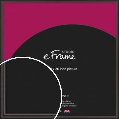 Elegant Vintage Black Picture Frame, 30x30