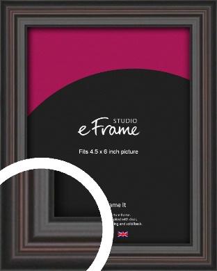 Elegant Vintage Black Picture Frame, 4.5x6