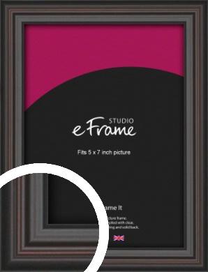 Elegant Vintage Black Picture Frame, 5x7