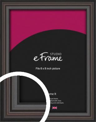 Elegant Vintage Black Picture Frame, 6x8
