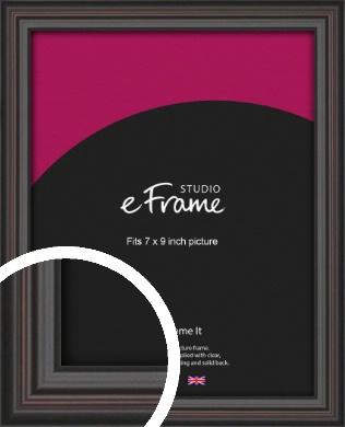 Elegant Vintage Black Picture Frame, 7x9