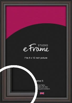 Elegant Vintage Black Picture Frame, 8x12