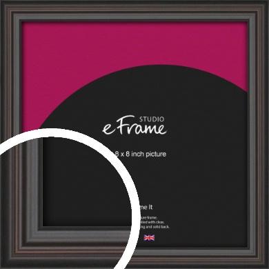 Elegant Vintage Black Picture Frame, 8x8