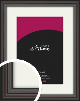 Elegant Vintage Black Picture Frame & Mount (VRMP-1249-M)