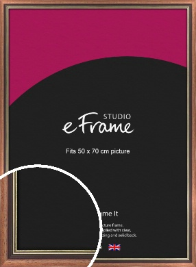 Gold Inner Edge Antique Brown Picture Frame, 50x70cm (VRMP-164-50x70cm)