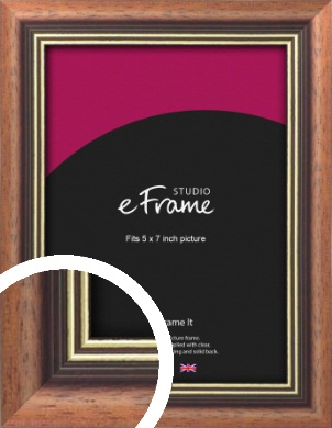 Gold Inner Edge Antique Brown Picture Frame, 5x7