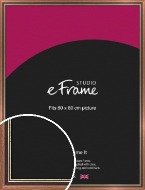 Gold Inner Edge Antique Brown Picture Frame, 60x80cm (VRMP-164-60x80cm)