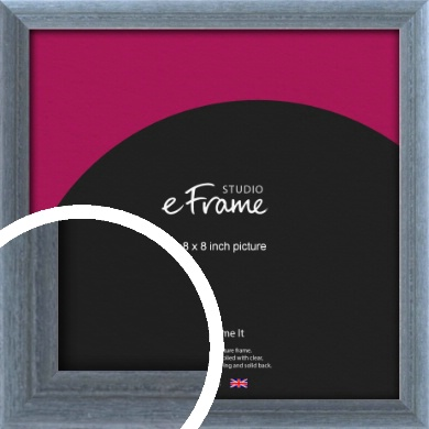 Weather Worn Sea Blue Picture Frame, 8x8