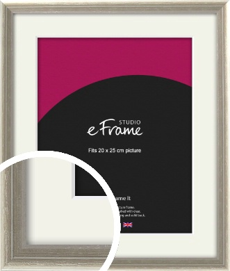 Shabby Chic French Grey Picture Frame & Mount, 20x25cm (8x10