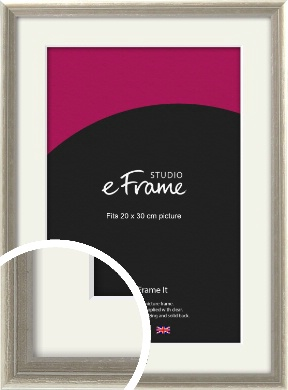 Shabby Chic French Grey Picture Frame & Mount, 20x30cm (8x12