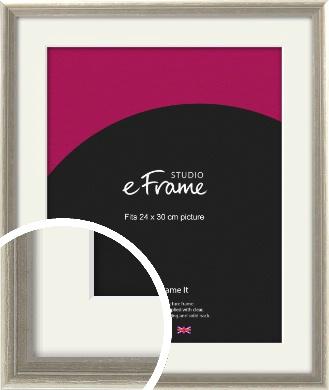 Shabby Chic French Grey Picture Frame & Mount, 24x30cm (VRMP-362-M-24x30cm)