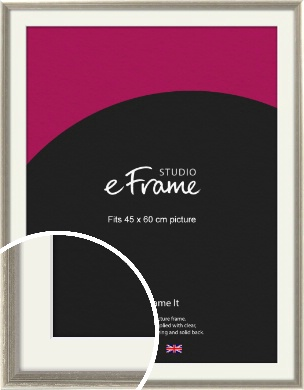 Shabby Chic French Grey Picture Frame & Mount, 45x60cm (VRMP-362-M-45x60cm)