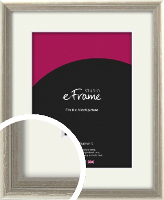 Shabby Chic French Grey Picture Frame & Mount, 6x8