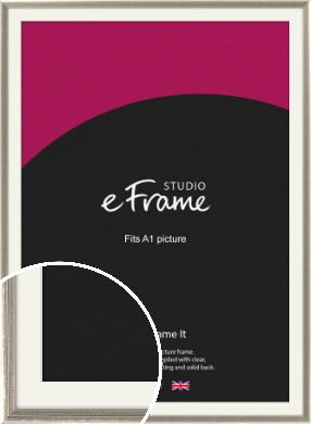Shabby Chic French Grey Picture Frame & Mount, A1 (594x841mm) (VRMP-362-M-A1)