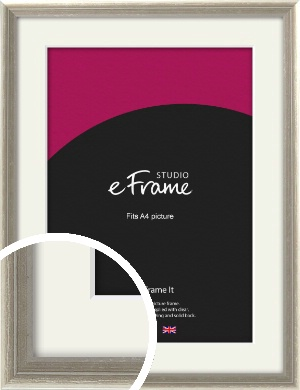 Shabby Chic French Grey Picture Frame & Mount, A4 (210x297mm) (VRMP-362-M-A4)