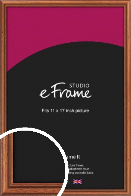 Rustic Brown Picture Frame, 11x17