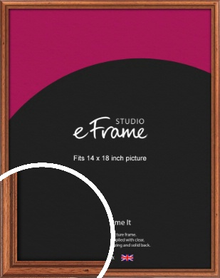 Rustic Brown Picture Frame, 14x18