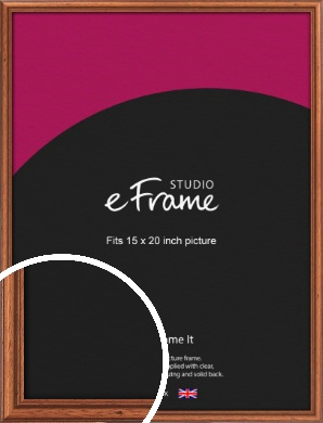 Rustic Brown Picture Frame, 15x20