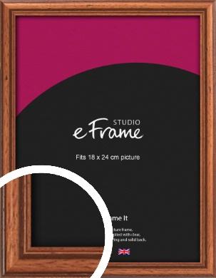 Rustic Brown Picture Frame, 18x24cm (VRMP-286-18x24cm)