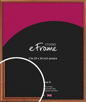Rustic Brown Picture Frame, 20x24