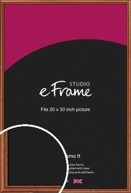 Rustic Brown Picture Frame, 20x30