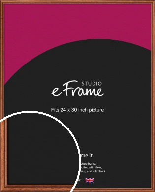 Rustic Brown Picture Frame, 24x30
