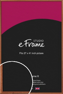Rustic Brown Picture Frame, 27x41