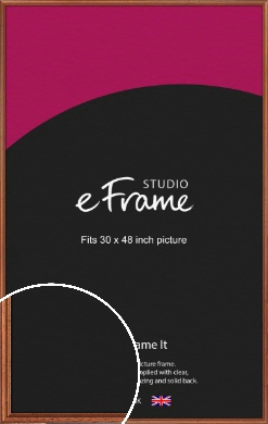 Rustic Brown Picture Frame, 30x48