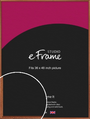 Rustic Brown Picture Frame, 36x48
