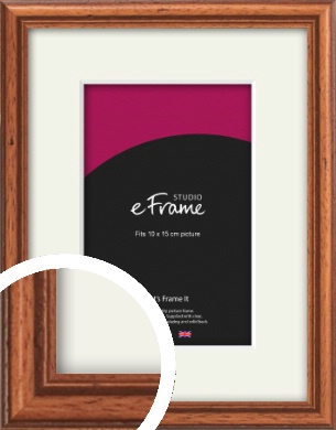 Rustic Brown Picture Frame & Mount, 10x15cm (4x6
