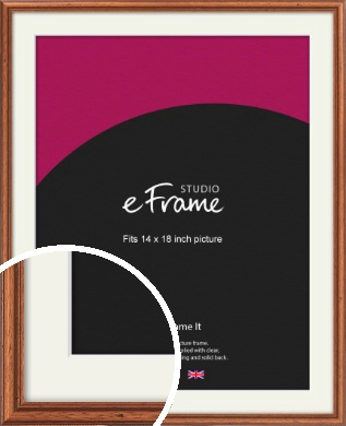 Rustic Brown Picture Frame & Mount, 14x18