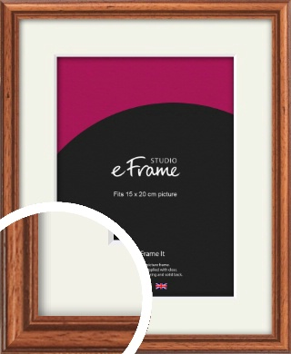 Rustic Brown Picture Frame & Mount, 15x20cm (6x8
