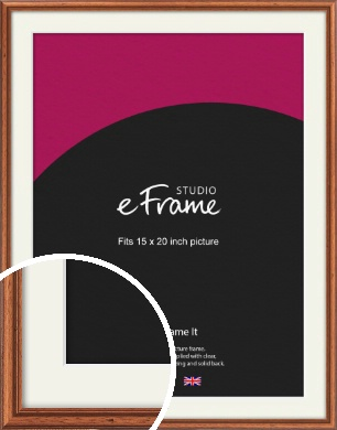 Rustic Brown Picture Frame & Mount, 15x20