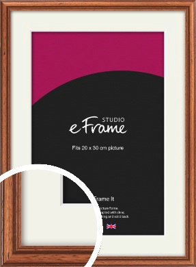 Rustic Brown Picture Frame & Mount, 20x30cm (8x12