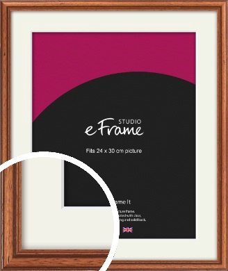 Rustic Brown Picture Frame & Mount, 24x30cm (VRMP-286-M-24x30cm)
