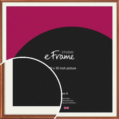 Rustic Brown Picture Frame & Mount, 30x30