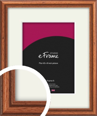 Rustic Brown Picture Frame & Mount, 4.5x6