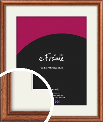 Rustic Brown Picture Frame & Mount, 8x10