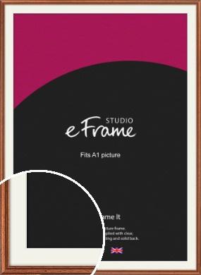 Rustic Brown Picture Frame & Mount, A1 (594x841mm) (VRMP-286-M-A1)