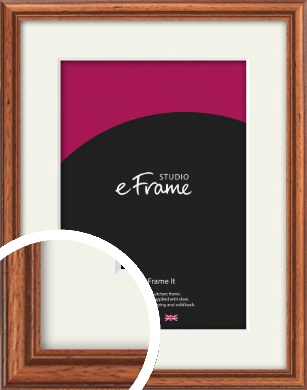 Rustic Brown Picture Frame & Mount (VRMP-286-M)