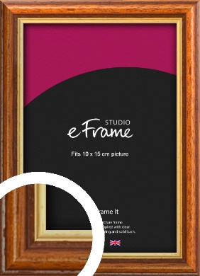 Retro Brown Picture Frame, 10x15cm (4x6