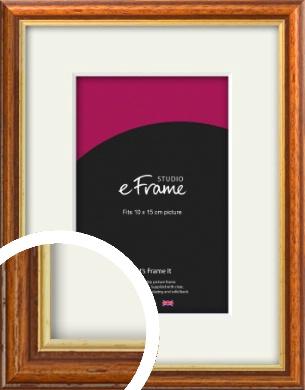 Retro Brown Picture Frame & Mount, 10x15cm (4x6
